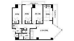 ラミーユ甲東園[401号室]の間取り