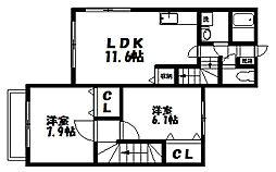 [テラスハウス] 東京都練馬区大泉学園町6丁目 の賃貸【/】の間取り