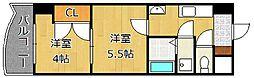 ロイヤルマジェスティ[10階]の間取り