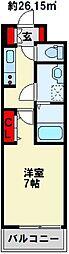 カルフール千防[1階]の間取り