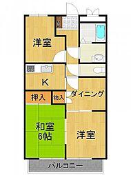 セシリアコート[1階]の間取り