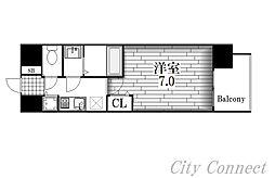 プレサンス名古屋STATIONサティナ[14階]の間取り