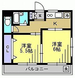 リーフコート東六郷 bt[3階]の間取り