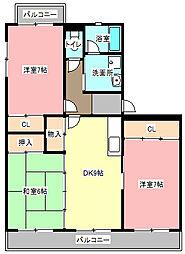 エクレールA[3階]の間取り