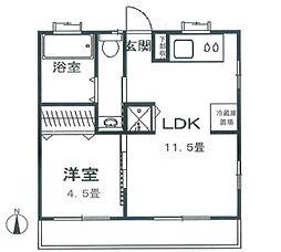 第1石川ハイム[1階]の間取り