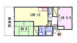 ルミエール飾磨[107号室]の間取り