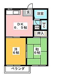 タンデム加藤[2階]の間取り