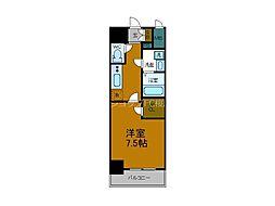 Osaka Metro中央線 朝潮橋駅 徒歩6分の賃貸マンション 6階1Kの間取り