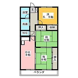 神明マンション[2階]の間取り