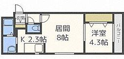 E−horizon麻生(旧:プライムコート麻生)[2階]の間取り
