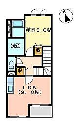 パークアヴィニューⅡ[2階]の間取り