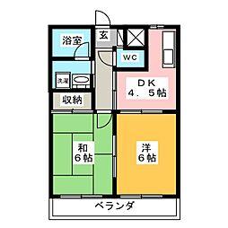 リンクス桜[2階]の間取り