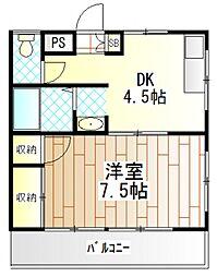 神奈川県相模原市南区南台4丁目の賃貸マンションの間取り