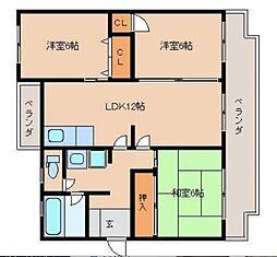 桑田園[3階]の間取り