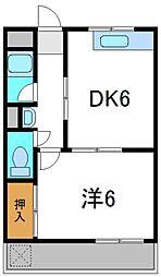 第7川辺ビル[4階]の間取り