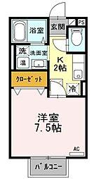 パリオ菅沼A[1階]の間取り
