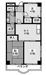 アヴィタシオン[3階]の間取り
