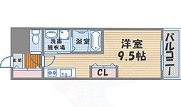 RYOWA Residence 6階ワンルームの間取り
