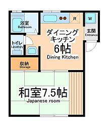 コーポヤマモト[2階]の間取り