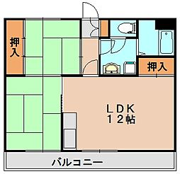安部ビル[1階]の間取り