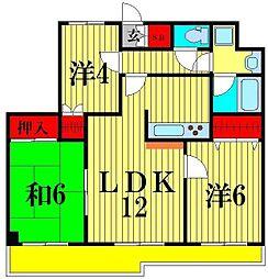 藤和シティコープ松戸III[6階]の間取り