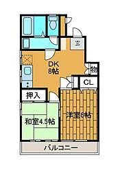 ユーホニーハウス[1階]の間取り