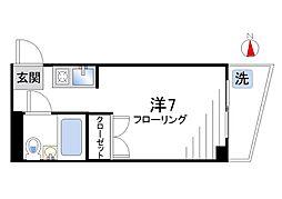 YMハウス[102号室]の間取り