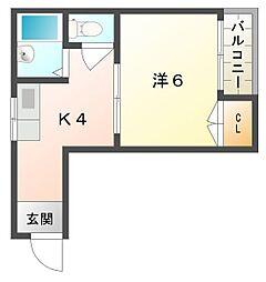 ニューハイツ桜III[3階]の間取り