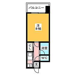 ピュアドームエスパルシア博多[5階]の間取り