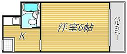 フラット高井戸[4階]の間取り