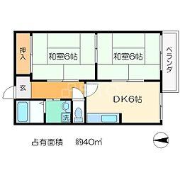 ドミール岩倉[2階]の間取り