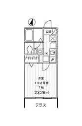 東京都大田区大森中2丁目の賃貸アパートの間取り