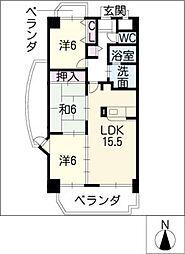 マイハイム末広[8階]の間取り