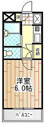 神奈川県厚木市妻田北2丁目の賃貸マンションの間取り
