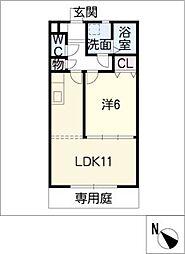 メゾン・ド・レーブ21[1階]の間取り