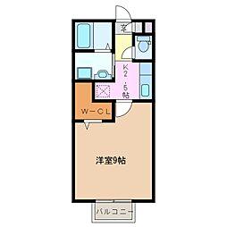 三重県四日市市新正3の賃貸アパートの間取り