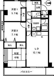 東京都西東京市新町6丁目の賃貸マンションの間取り