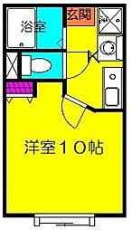バルパレーアトリエII[406号室号室]の間取り