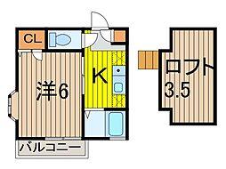 YSハイツ[1階]の間取り