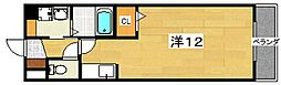 大阪府枚方市大峰元町2丁目の賃貸マンションの間取り