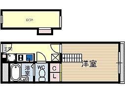 竹橋町マンション[1階]の間取り