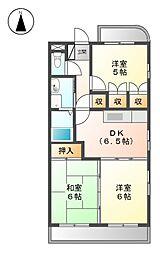 愛知県春日井市味美町1丁目の賃貸マンションの間取り