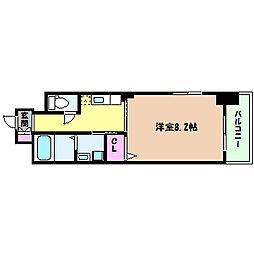 阪急神戸本線 六甲駅 徒歩10分の賃貸マンション 5階1Kの間取り