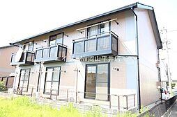 岡山県岡山市北区青江1の賃貸アパートの外観