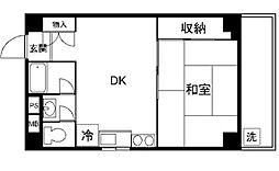 パレ・ドール新宿[8階]の間取り