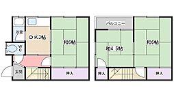 [一戸建] 大阪府寝屋川市高柳2丁目 の賃貸【/】の間取り