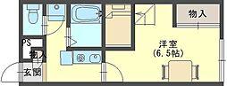 奈良県生駒郡斑鳩町法隆寺南3丁目の賃貸アパートの間取り
