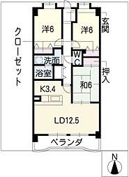 リーフマンショングロリアス[3階]の間取り