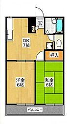 パイントリーIII[2階]の間取り