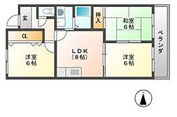 ベルメゾンフォワイエ[3階]の間取り